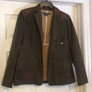 Ralph Lauren jacket w/leather trim size L